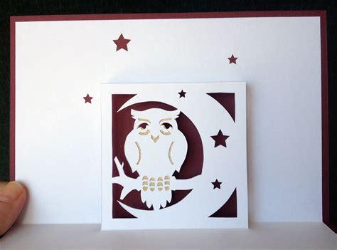 owl pop up card template owl pop up card nana cards pop up cards