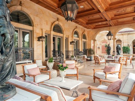 neoclassical chateau style estate  texas idesignarch