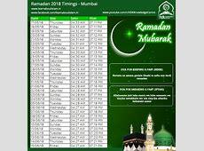 Ramadan Timetable 2018 UPDATED Ramadan Sehri and Iftar