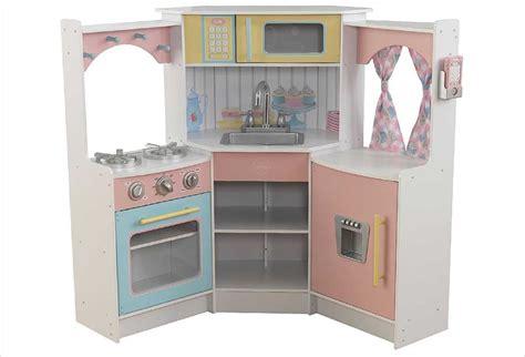 cuisine en bois kidkraft cuisine d 39 angle enfant en bois couleurs pastel kidkraft 53368