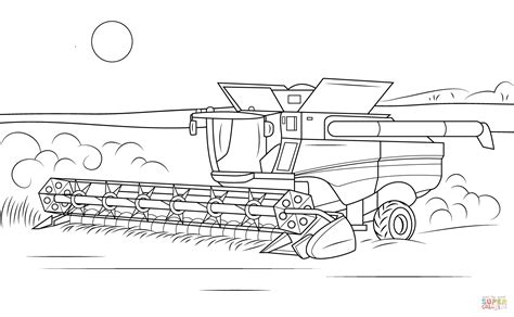 Farbe Kombinieren by Deere Combine Coloring Page Free Printable Coloring