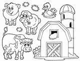 Coloring Barnyard sketch template