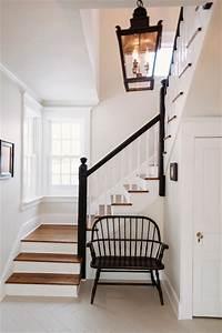 Black & White Entryway - Farmhouse - Staircase - chicago