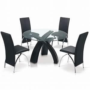 Table à Manger Noire : deco in paris table a manger ronde noire gore tab noire gore ~ Teatrodelosmanantiales.com Idées de Décoration