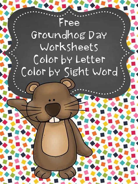 groundhog day coloring pages preschoolkindergarten