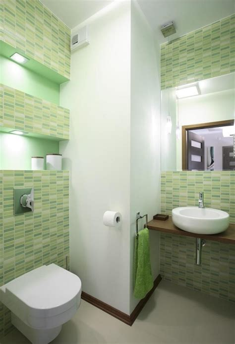green bathroom tile ideas small bathroom ideas tile colors bright green wall shelves