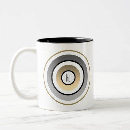 There really is something for everyone. Target , Black and Gold Modern Geometric Monogram Two-Tone Coffee Mug   Zazzle.com   Modern mugs ...