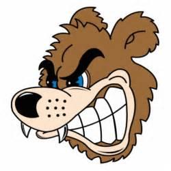 Cartoon Angry Bear Face