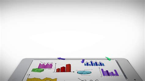 Marketing Background Animation Of Business Marketing And Financial Colorful