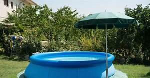 Feutre Sous Gravier : une piscine gonflable dans votre jardin de long moments ~ Premium-room.com Idées de Décoration