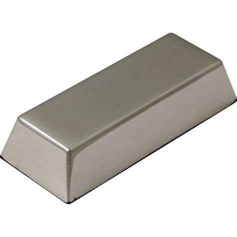 metal tool box solid ingot desk paperweight in silver finish