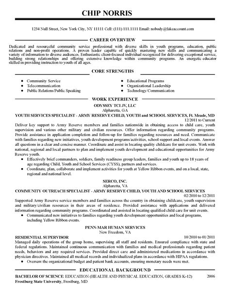 How To List Community Service On Resume Exles by Professional Community Service Coordinator Templates To