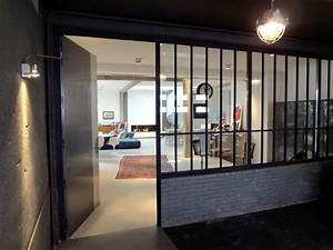 loft contemporain contemporain entree dijon par With porte d entrée pvc avec plafonnier salle de bain industriel