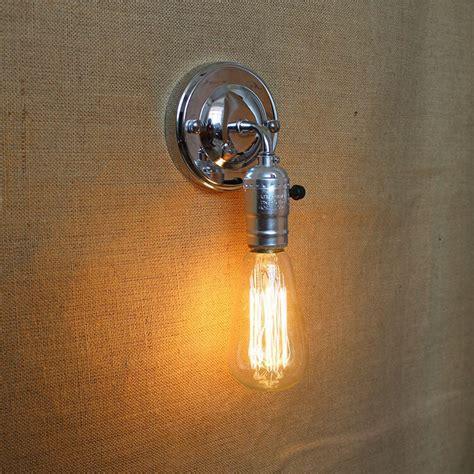 pull chain modern vintage loft adjustable e27 chrome metal wall light retro brass wall l