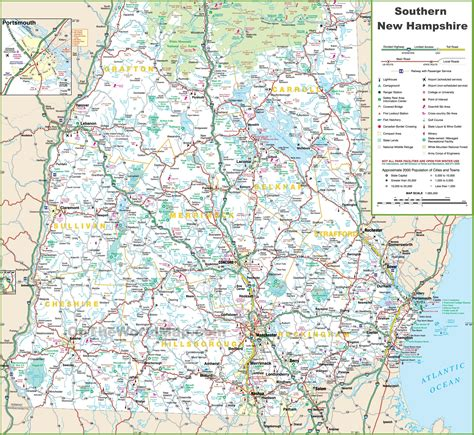 Map Of Southern New Hampshire
