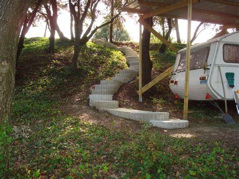 escaliers dans talus