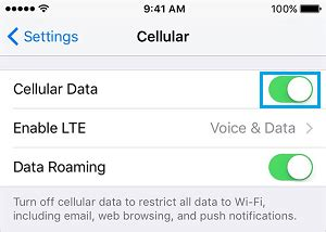 how to turn on cellular data on iphone how to monitor and cellular data usage on iphone