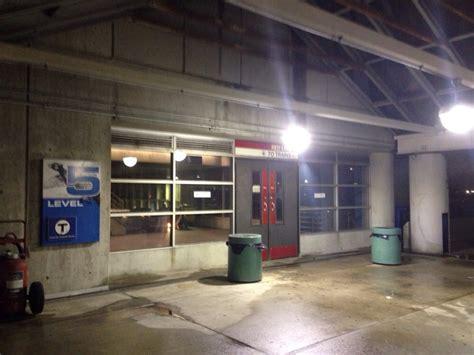 alewife parking garage alewife mbta entrance on 5th level of alewife parking