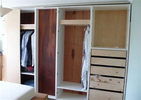 bedroom wardrobe built  chimney breast diy