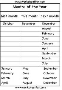 The Worksheet Months Of The Year 4 Worksheets Free Printable Worksheets Worksheetfun