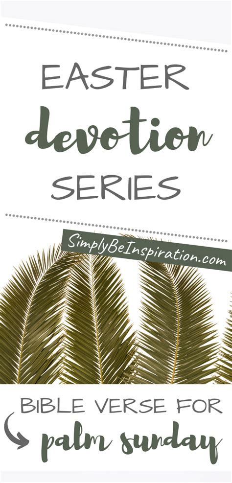 Easter Devotions Series Palm Sunday Bible Verse Simply