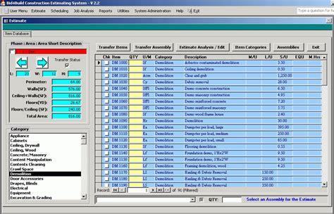 Construction Bid Software Free Hvac Estimating Software Ilikeggett
