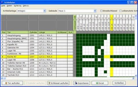 software key organizer verwalten von schliessanlagen