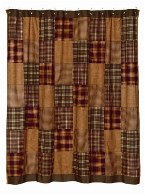 primitive shower curtains primitive vineyard path rustic homespun shower curtain ebay