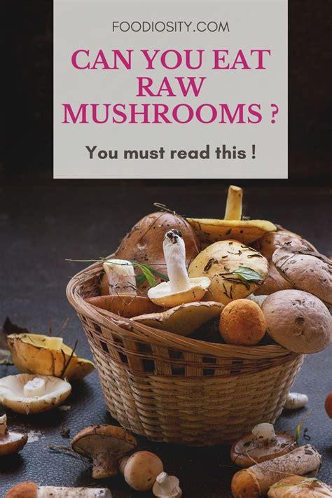 raw eat mushrooms recipes