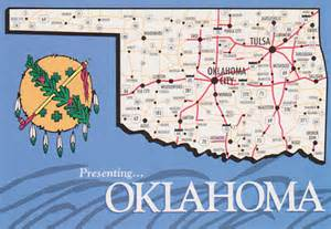 Large Oklahoma State Map