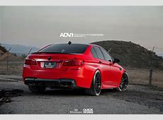 Matte Red BMW F10 M5 With ADV1 Wheels