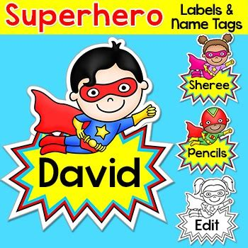 superhero theme for preschoolers name tags labels theme back to school 896