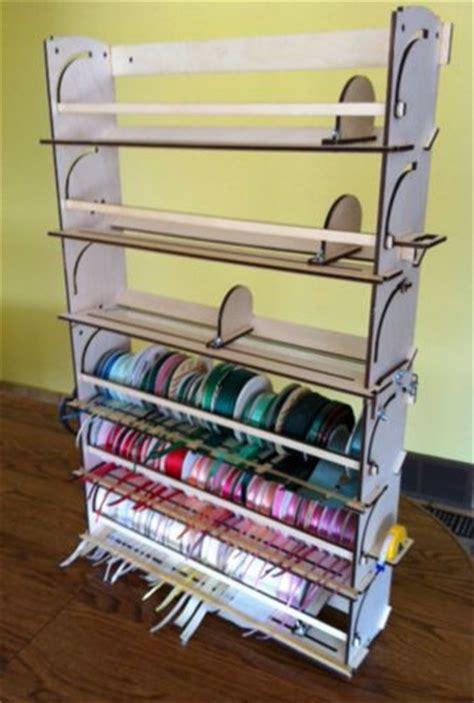 ribbon storage rack organizer holder  spools craft