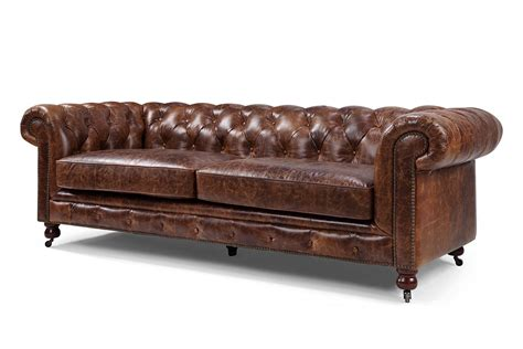 items canape canapé chesterfield en cuir kensington