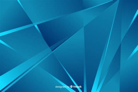 Abstract Blue Shapes Background by Abstract Blue Shapes Background Style Vector Free