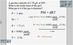 Ideal Gas Law Density Wmv