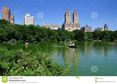 Central Park Lake Boat Rental by Nyc View Across Central Park Boating Lake Editorial