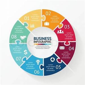 Vector Circle Puzzle Infographic  Template For Diagram  Graph  Presentation And Chart  Business