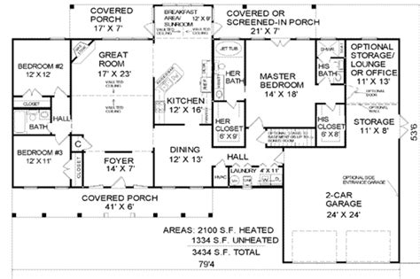 4 bedroom 2 story house plans country style house plan 3 beds 3 baths 2100 sq ft plan