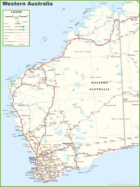 large detailed map  western australia  cities  towns