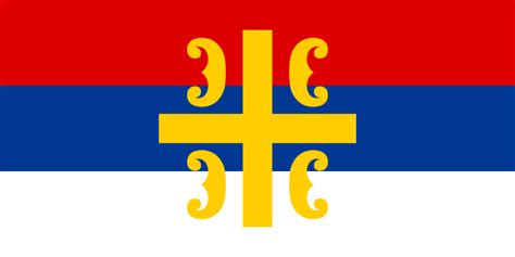 Flag Of The Serbian Cross.svg