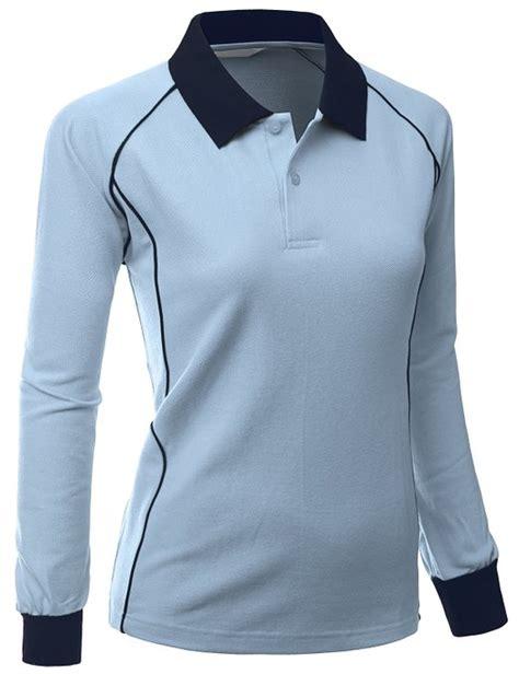 polo shirt polos kerah xpril womens comfortable fabric sporty piping golf polo shirts