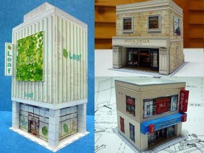 scale commercial architecture paper models ho scale