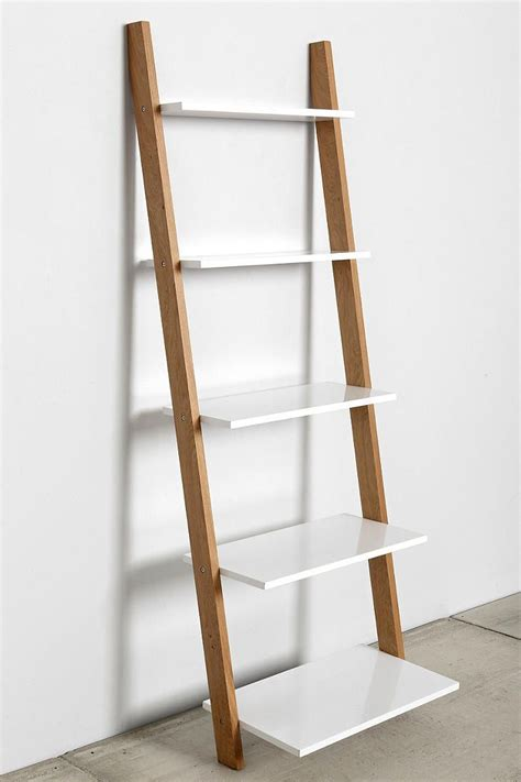Leaning Bookcase by Assembly Home Leaning Bookcase