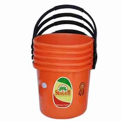 Bucket Plastic Liter Buckets Litre Chairs Orange