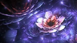 Wallpaper, Digital, Art, Abstract, 3d, Purple, Apophysis, Fractal, Flowers, Flower, Flora