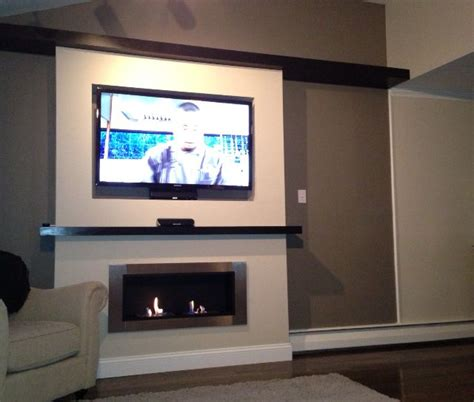 lata ventless fireplace recessed  tv   home