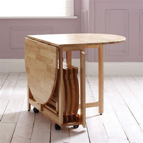 Folding dining table on wheels   foldable chairs that fit