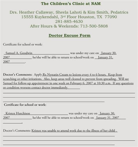 creating fake doctors note excuse slip  templates