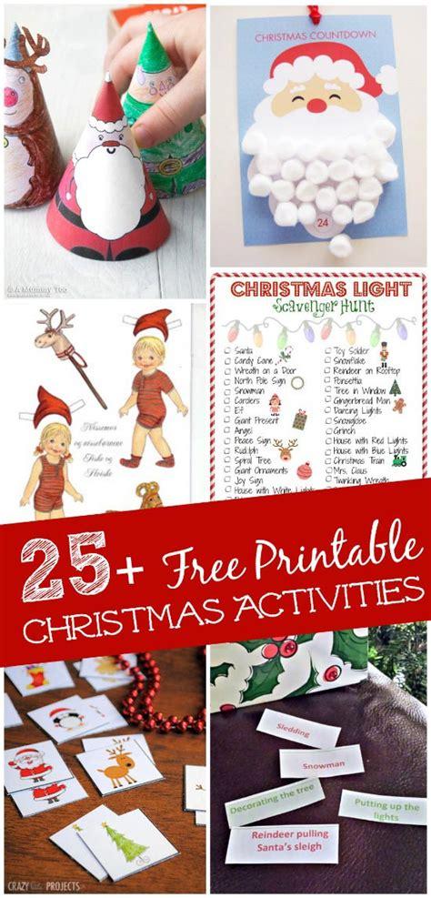 printable christmas games  activities